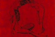 Jean-Marie Haessle Body speaks series -Three Graces 1993 66 x 66 in acrylic on canvas