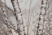 Hilary Dymond, sans titre, Winter Paths, 2014, huile sur toile, 100x100cm