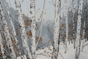 Hilary Dymond, sans titre, Winter Paths, 2014, huile sur toile, 130x200cm