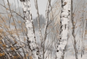 Hilary Dymond, sans titre, Winter Paths, 2014, huile sur toile, 80x80cm