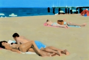 LIFANG, Plage N°14  97x130cm huile 2013